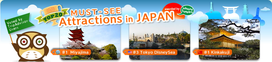 Top20 Must See Attractions in Japan